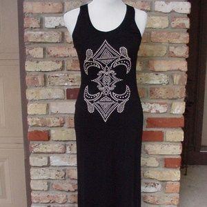 YA Los Angeles S Black Long Maxi Dress